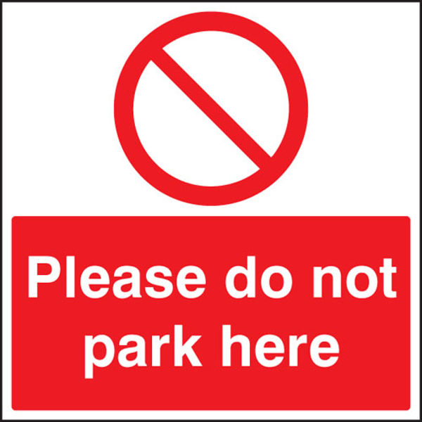 Picture of Please do not park here