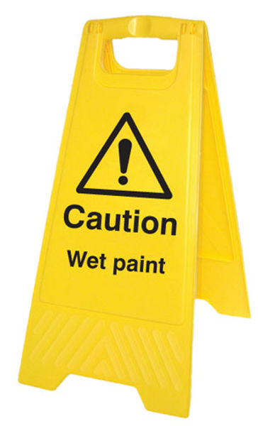 Picture of Caution wet paint (free-standing floor sign)
