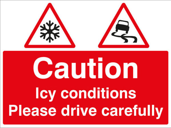 Picture of Caution Icy conditions Please drive with care