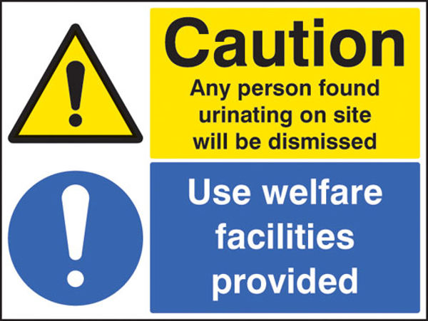 Picture of Caution any person found urinating - use welfare facilities