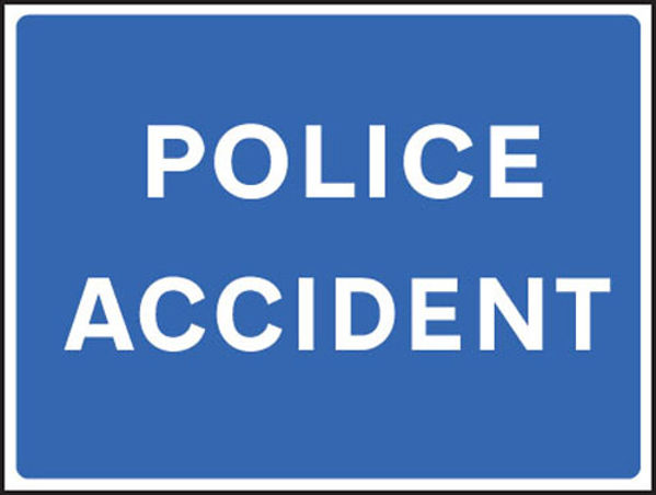 Picture of Police accident fold up 900x600mm sign