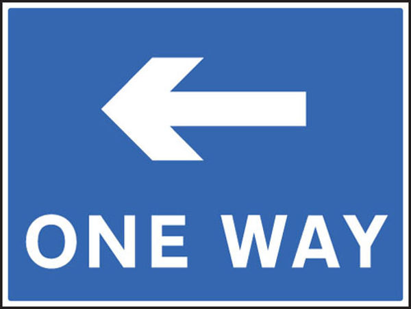 Picture of One way - left