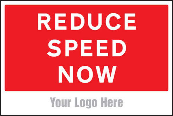 Picture of Reduce speed now, site saver sign 600x400mm