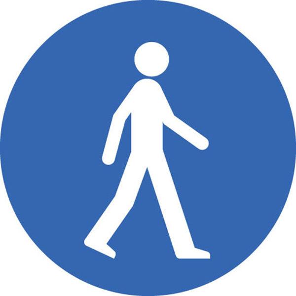 Picture of Pedestrian floor graphic 400mm dia