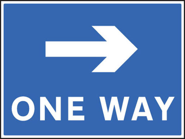 Picture of One way - right