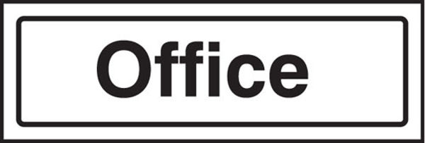 Picture of Office visual impact sign 5mm acrylic sign 450x150mm c-w stand off locators