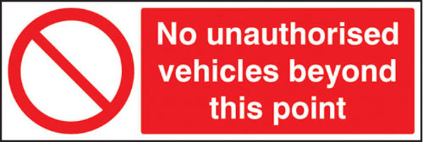 Picture of No unauthorised vehicles beyond this point