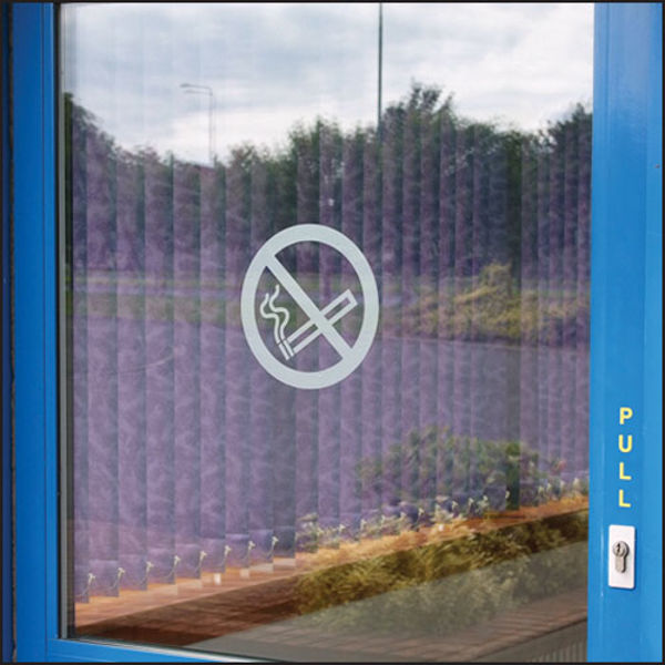 Picture of No smoking symbol frosted transfer 200mm