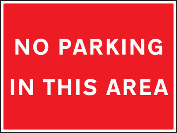 Picture of No parking in this area