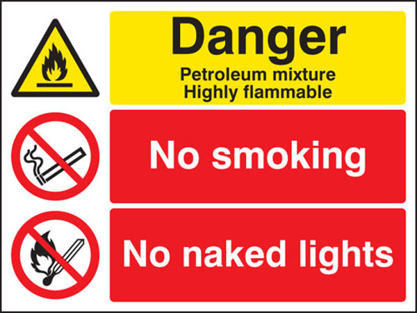 Picture of Petroleum mixture no smoking no naked light