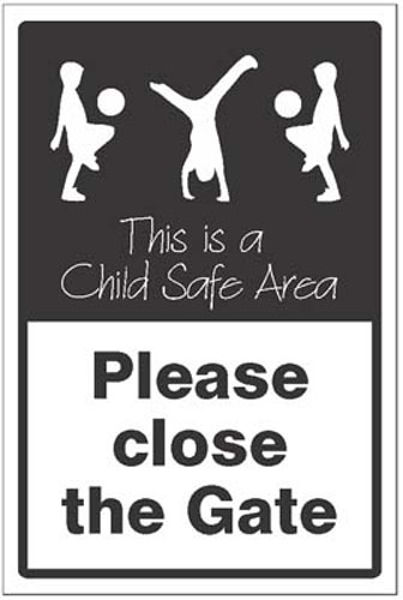 Picture of Please close the gate This is a child safe area