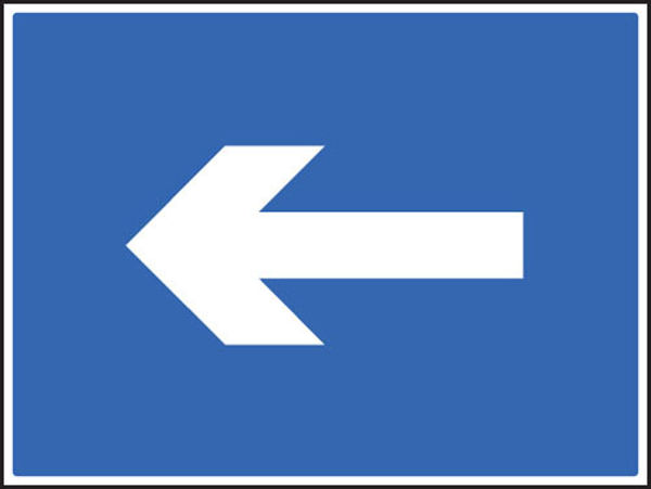 Picture of One way arrow only