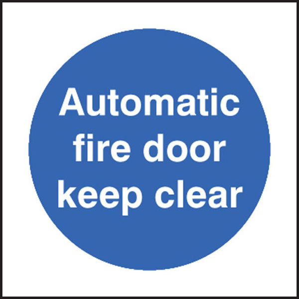 Picture of Automatic fire door keep clear