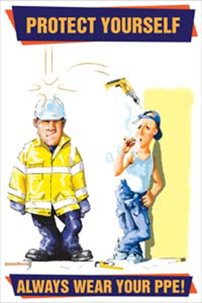 Picture of Always wear your PPE poster 510x760mm synthetic paper
