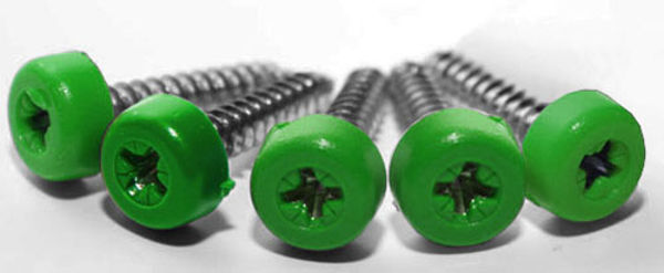 Picture of Poly top screws green (pack 12)