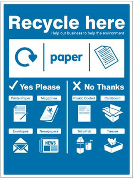 Picture of Paper - WRAP Recycle here sign