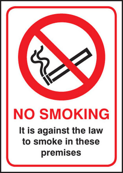 Picture of No Smoking it is against the law A4 SAV