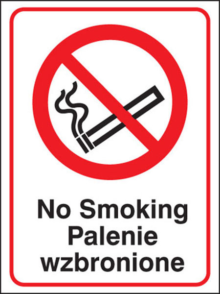 Picture of No smoking (English-polish)