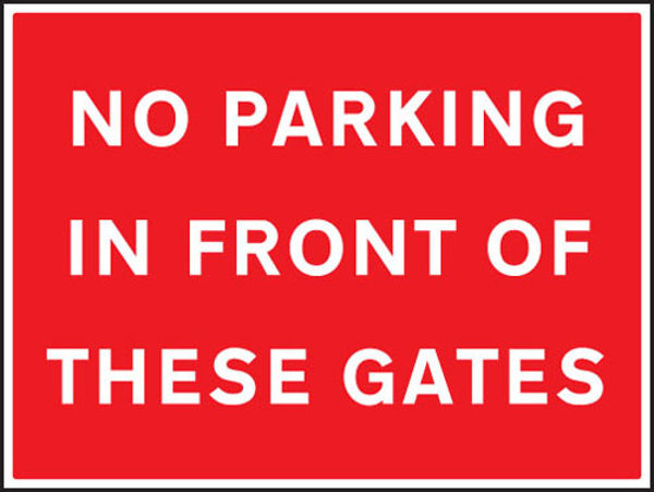 Picture of No parking in front of these gates