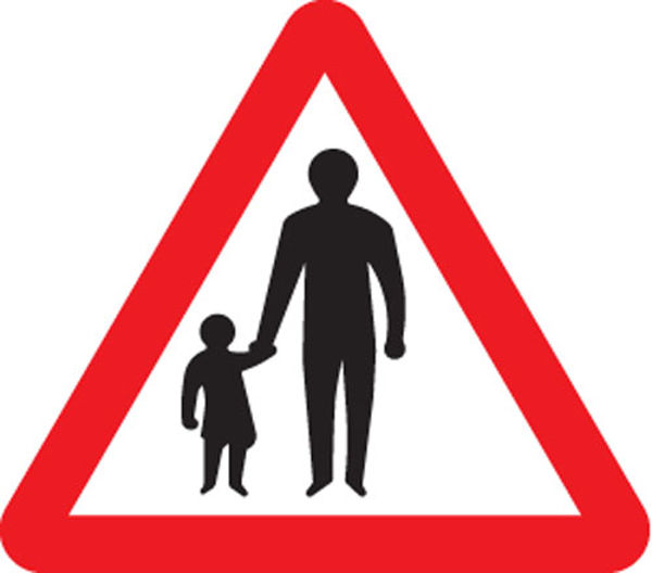 Picture of Pedestrians in road ahead class RA1 600mm