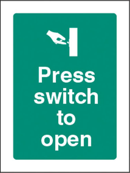 Picture of Press switch to open