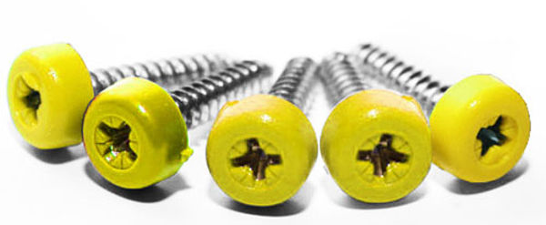 Picture of Poly top screws yellow (pack 12)