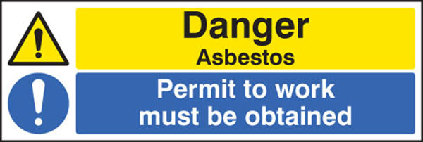 Picture of Danger asbestos permit to work must be obtained