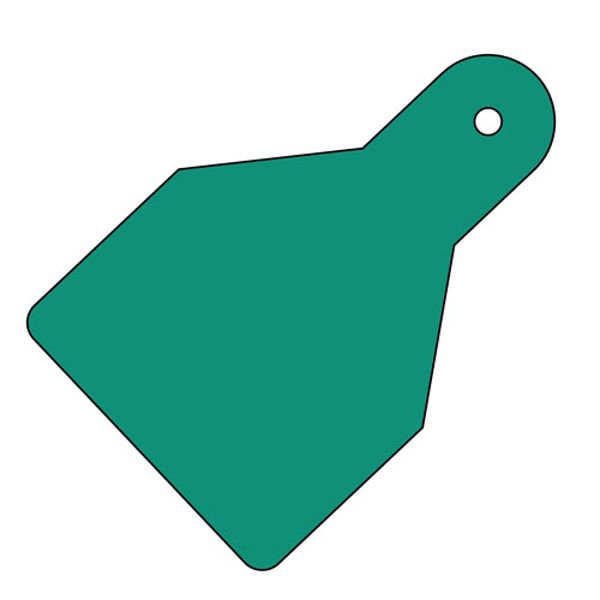 Picture of Plain ID Wide Flag Tags (Pack of 20) Green 100x65