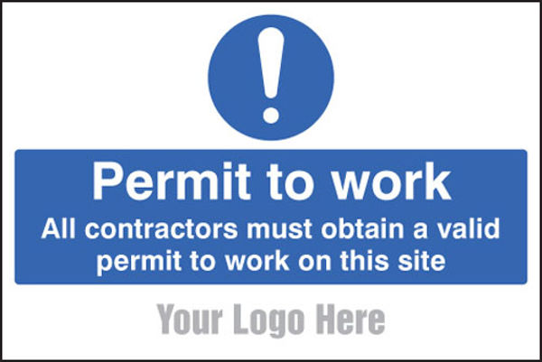 Picture of Permit to work, site saver sign 600x400mm