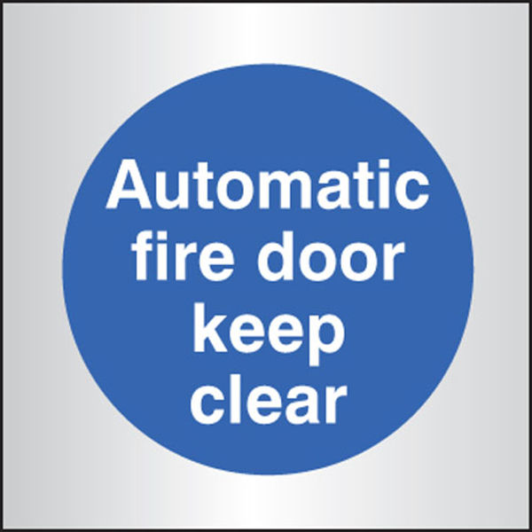 Picture of Auto fire door keep clear 70x70mm aluminium