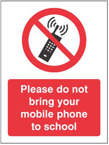 Picture of Please do not bring your mobile phone to school