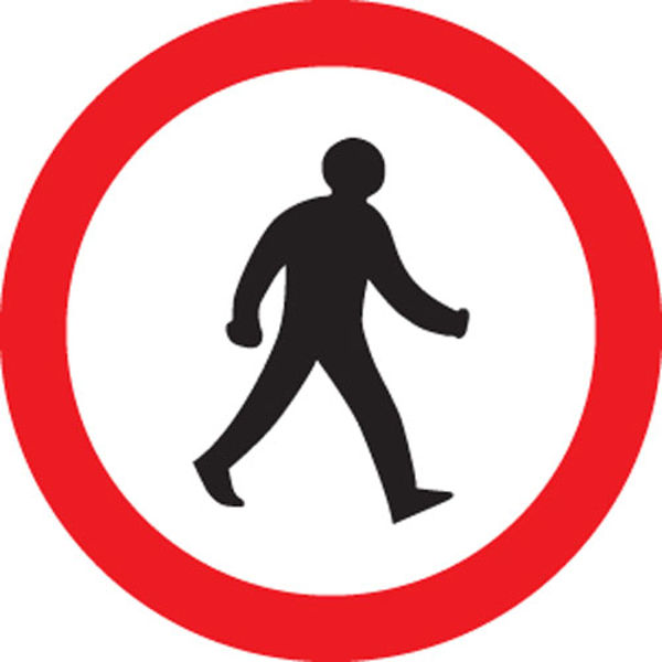 Picture of Pedestrians prohibited class RA1 600mm
