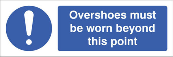 Picture of Overshoes must be worn beyond this point