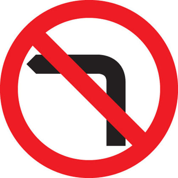 Picture of No left turn
