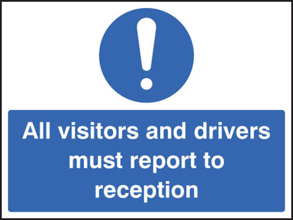 Picture of All visitors must report to reception