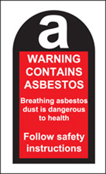 Picture of 100 S-A labels 27x50mm contains asbestos