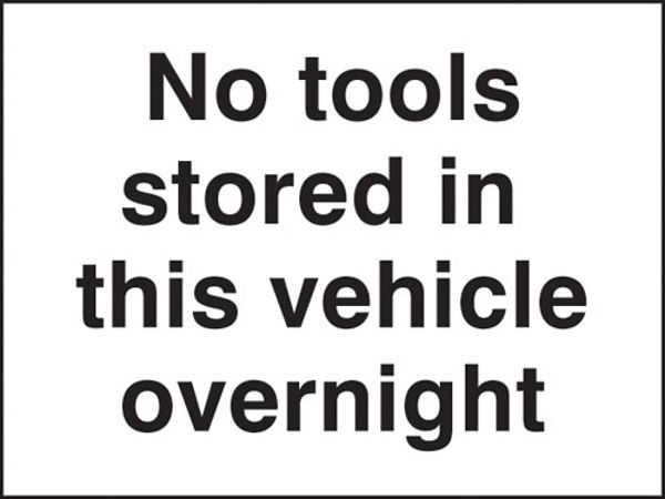 Picture of No tools stored in this vehicle overnight