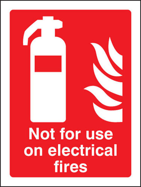 Picture of Not for use on electrical fires