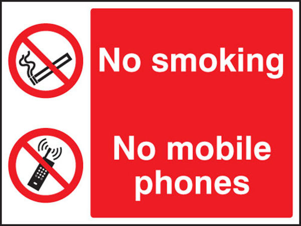 Picture of No smoking or mobile phones