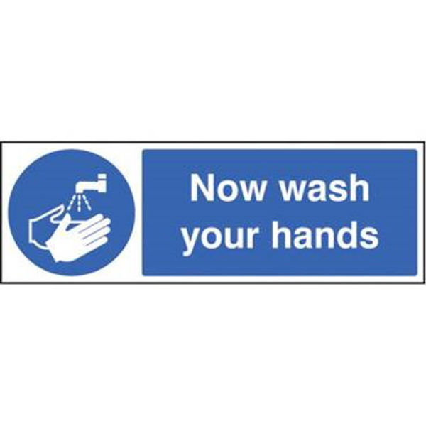 Picture of Now wash your hands 300mm x 100mm S-A