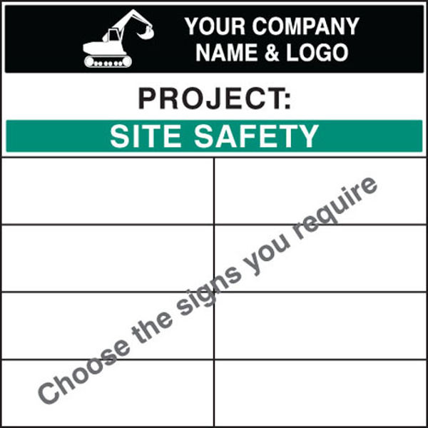 Picture of Personalised bespoke site safety board 1200x1200mm