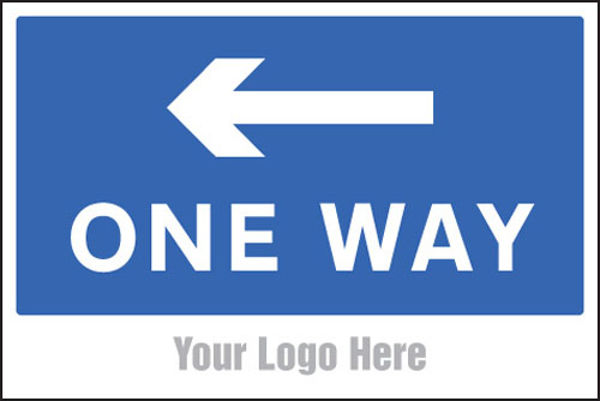 Picture of One way, arrow left, site saver sign 600x400mm
