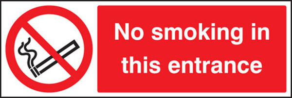 Picture of No smoking in this entrance