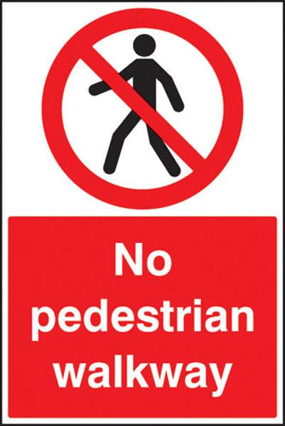 Picture of No pedestrian walkway floor graphic 400x600mm
