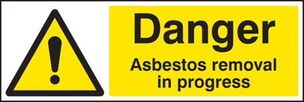 Picture of Danger asbestos removal in progress