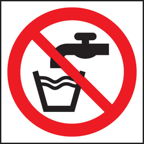 Picture of Not drinking water (symbol)