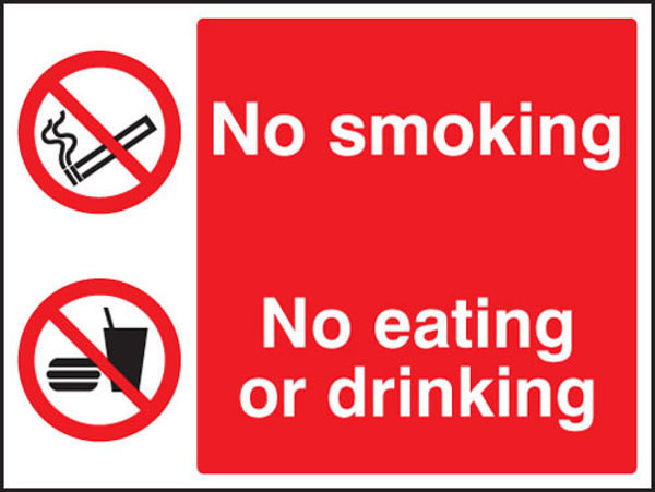Picture of No smoking, no eating, no drinking