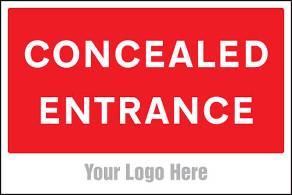 Picture of Concealed entrance, site saver sign 600x400mm