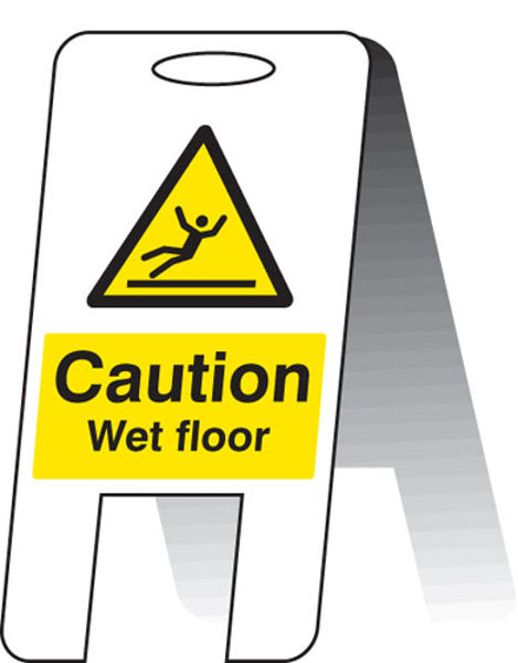 Picture of Caution wet floor (self standing folding sign)