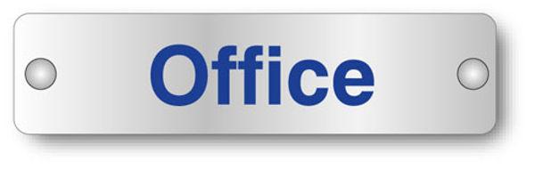 Picture of Office visual impact aluminium door sign